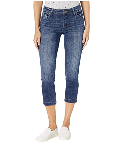 KUT from the Kloth Lauren Crop Straight Leg with Wide Hem in Vibes Wash (Vibes Wash) Women