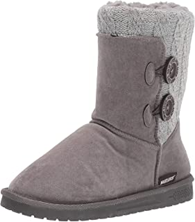 Muk Luks Women's Matilda Boots Fashion, Grey, 7 M US