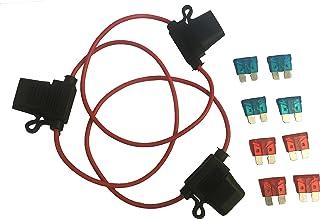 KOLACEN Bil Bil Lastbil In-line 16 Gauge Säkringshållare för vanlig standard bladtyp säkring 3 delar + 8 delar standard bl...
