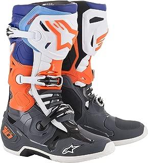 Tech 10 Off-Road Motocross Boot (13 US, Gray Orange Blue)