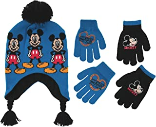 0632a13ccfd Disney Little Boys Mickey Mouse Hat and Additional Pairs Gloves or Mittens  Cold Weather Accessory Set