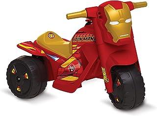 Moto Homem de Ferro Elétrica 6V Avengers Bandeirante Vermelho