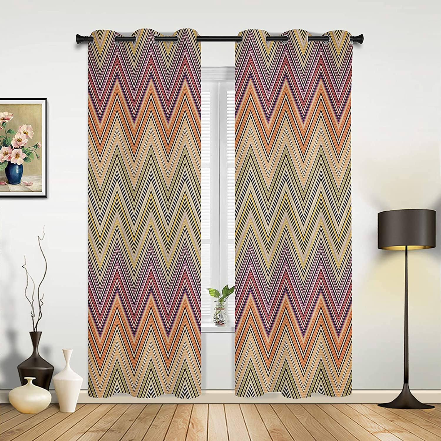 Window Sheer Max 58% OFF Curtains for Bedroom Room Retro Ethnic Style unisex Living