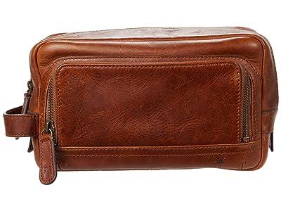 Frye Logan Travel Case (Cognac) Bags