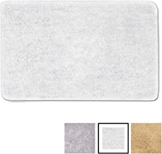 GadHome Alfombra de Baño, Blanca 50×80cm | Antideslizante y Muy Absorbente | Súper Suave, Esponjosa y Duradera | Multiuso Lavable a Máquina | Microfibra de Primera Calidad para Uso Interior
