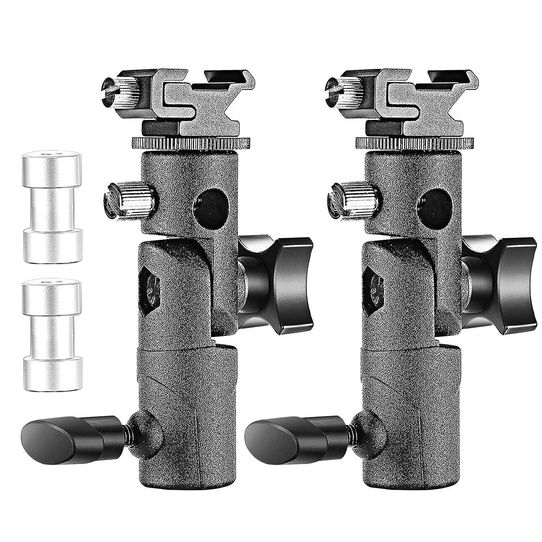NEEWER E型フラッシュブラケット 2個入り フラッシュ、ビデオライト、スタジオライトに対応可