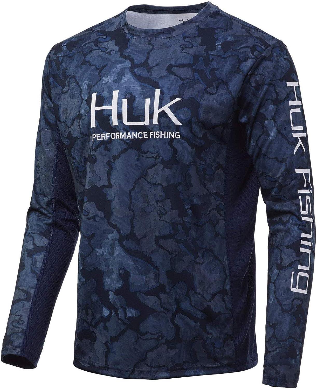 Huk Men's Icon Super popular specialty store X Camo Long Performance Austin Mall Pei Sleeve Fishing Shirt
