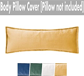Massam Decor Body Pillow Cover Luxury Soft Velvet (Mustard, Velvet, 20x54)