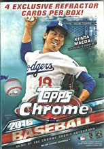2016 Topps Chrome MLB Baseball Blaster Box - This Value Box Contains 4 Special Sepia Refractors Only Found In Blasters