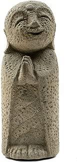 Grey Jizo Statue Bosatsu Guardian Protector Ksitigarbha Jizo Buddha Figurine Bodhisattva Buddhist Monk Jizos, Stone