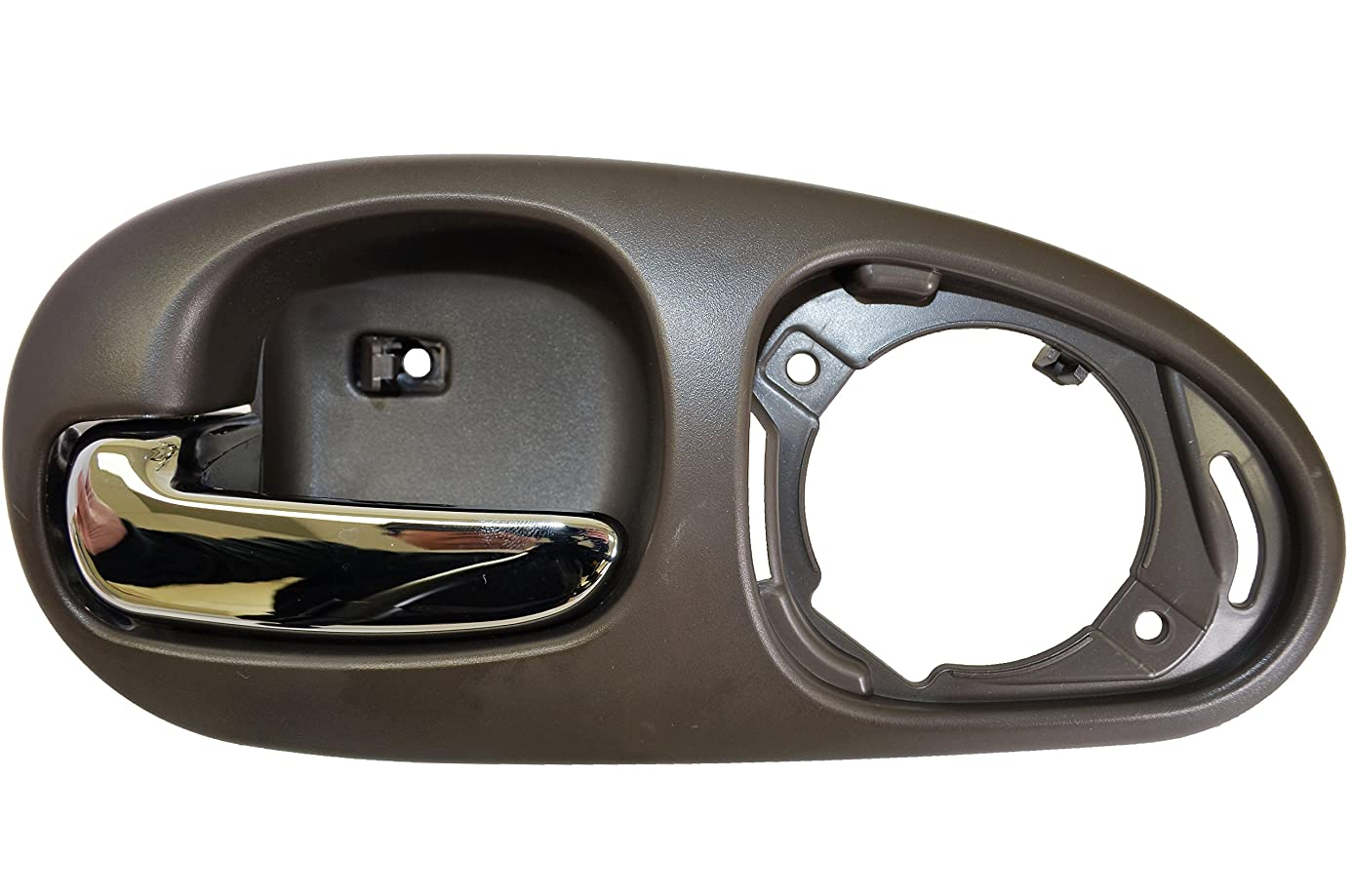 PT Auto Warehouse CH-2334MG-RL - Inside Interior Inner Door Handle, Gray Housing with Chrome Lever - without Speaker Cover, Driver Side Rear