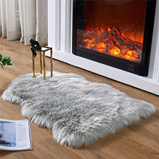 EasyJoy Ultra Soft Fluffy Rugs Faux Fur Rug Chair Cover Seat Pad Fuzzy Area Rug for Bedroom Floor Sofa Living Room (2 x 3 ...