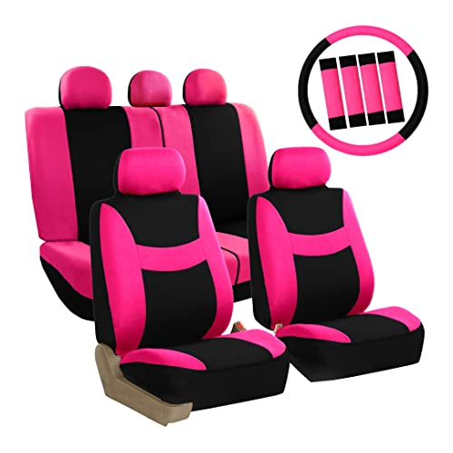 Pink Seat Covers For Cars Amazon Com