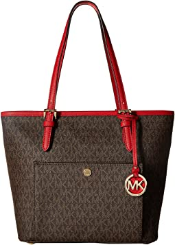 MICHAEL Michael Kors Jet Set Item Medium Top Zip Snap Pocket Tote