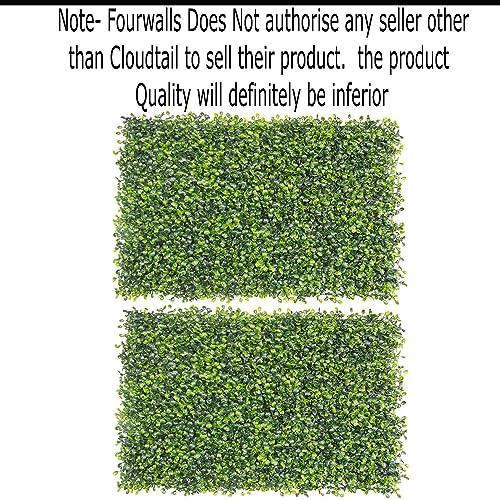 Fourwalls Artificial PVC Eucalyptus Boxwood Tiles (60 cm x 40 cm x 2 cm, Green, Set of 2)