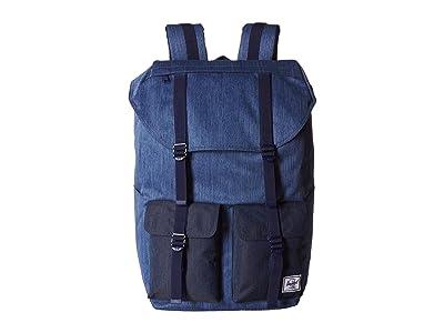 Herschel Supply Co. Buckingham (Faded Denim/Indigo Denim) Backpack Bags