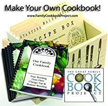 Family Cookbook Creation Kit With 5 Professionally Printed Custom Cookbooks - Quick, Convenient and Easy to Use - USA-Based Tech Support
