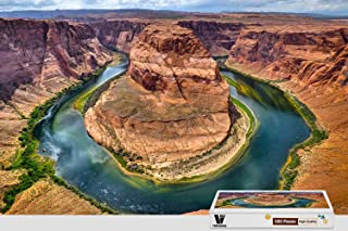 PigBangbang,20.6 X 15.1 Inch,Hard Wooden in Box Famous Paintings Bright Colorful - Horseshoe Bend - 500 Piece Jigsaw Puzzle