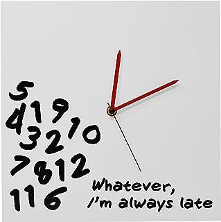 "ARAD Whatever Wall Clock 12"" x 12"" x 2"" White 426"