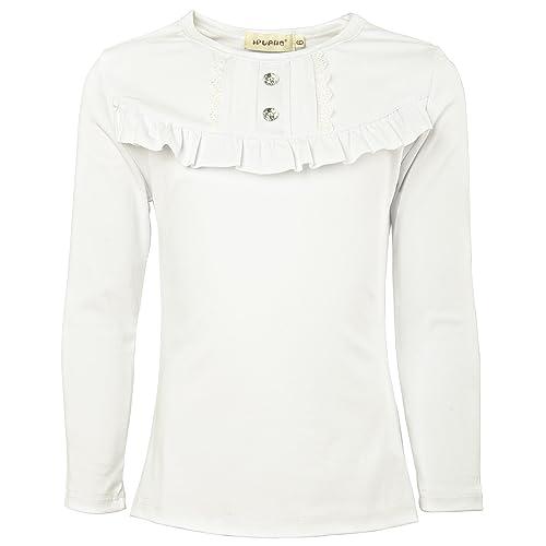 c01176b5f Ipuang Girl Long Sleeve Cotton Ruffle T Shirt Top