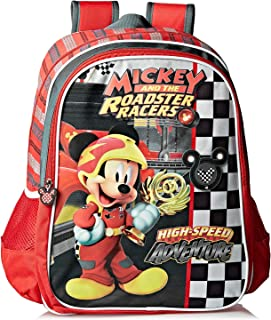 Mickey School Backpack for Girls, Red