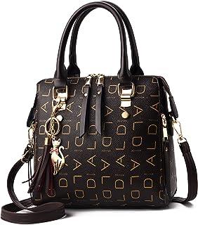 Alidear Mode Big Bag Damenhandtasche einfache und vielseitige Umhängetasche mit Einer Schulter (Schwarz)