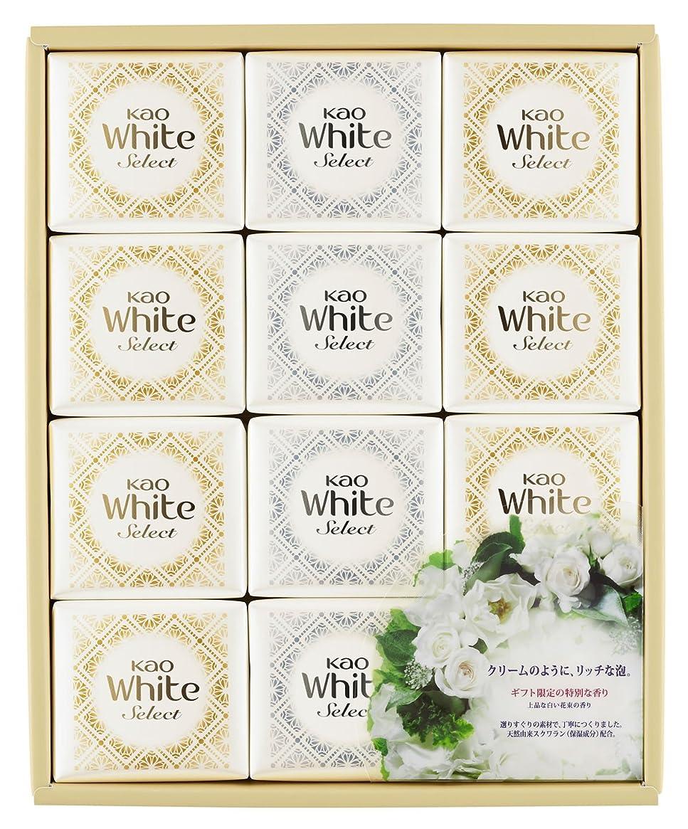 機械的に終わらせる地上の花王ホワイト セレクト 上品な白い花束の香り 85g 12コ K?WS-20
