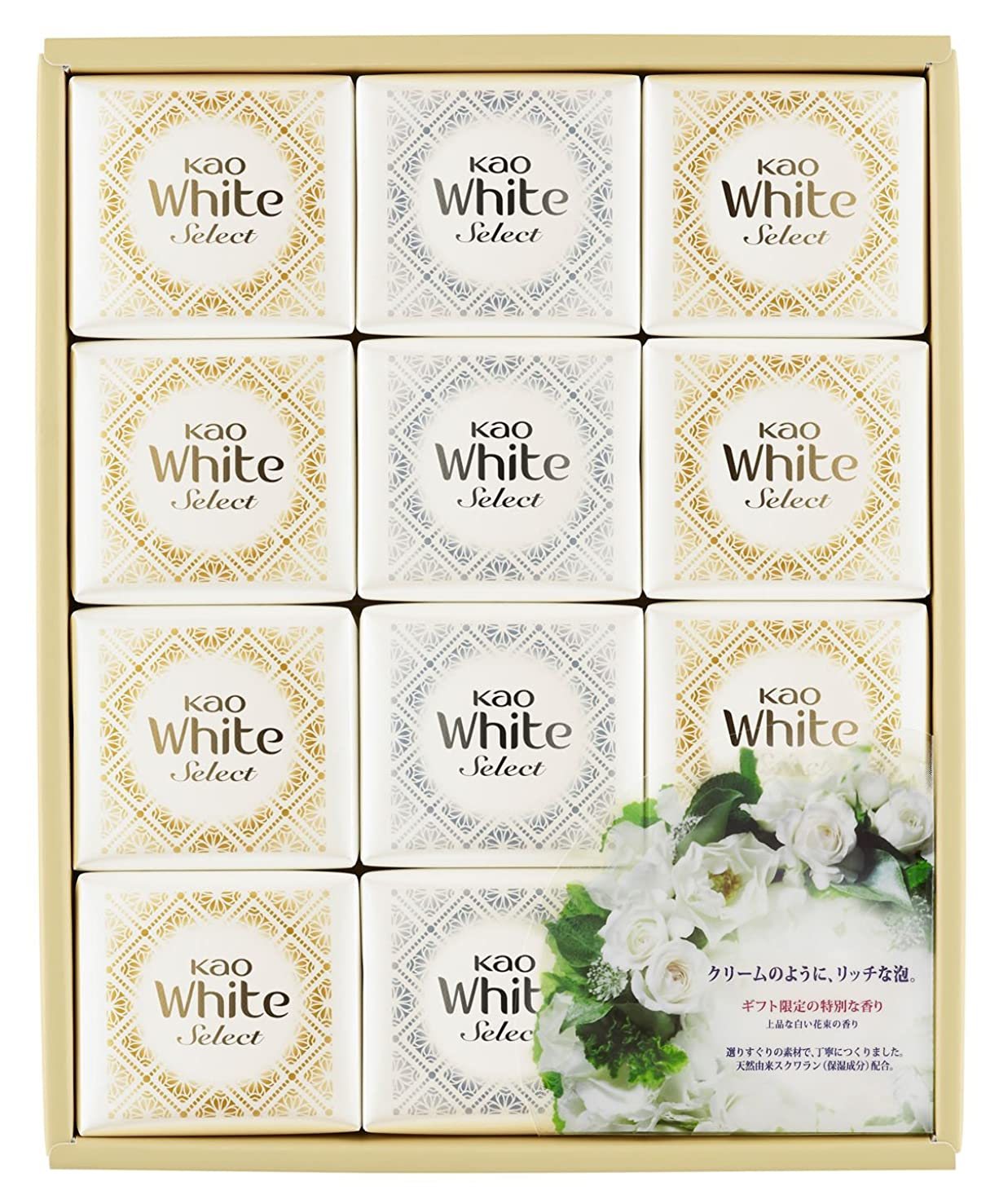 ボイド禁じるカップ花王ホワイト セレクト 上品な白い花束の香り 85g 12コ K?WS-20