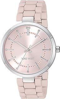 Nine West - Reloj de pulsera para mujer con cristales acentuados de goma