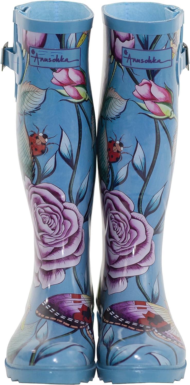 Anuschka Women's Printed and Adjustable Rain Boot