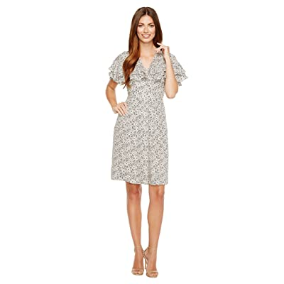 Rebecca Taylor Short Sleeve Sweet Briar Dress (Cream Combo) Women