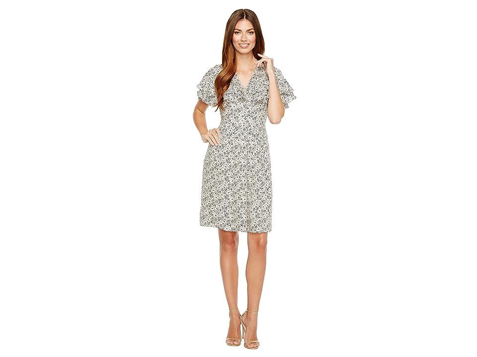 Rebecca Taylor Short Sleeve Sweet Briar Dress (Cream Combo) Women