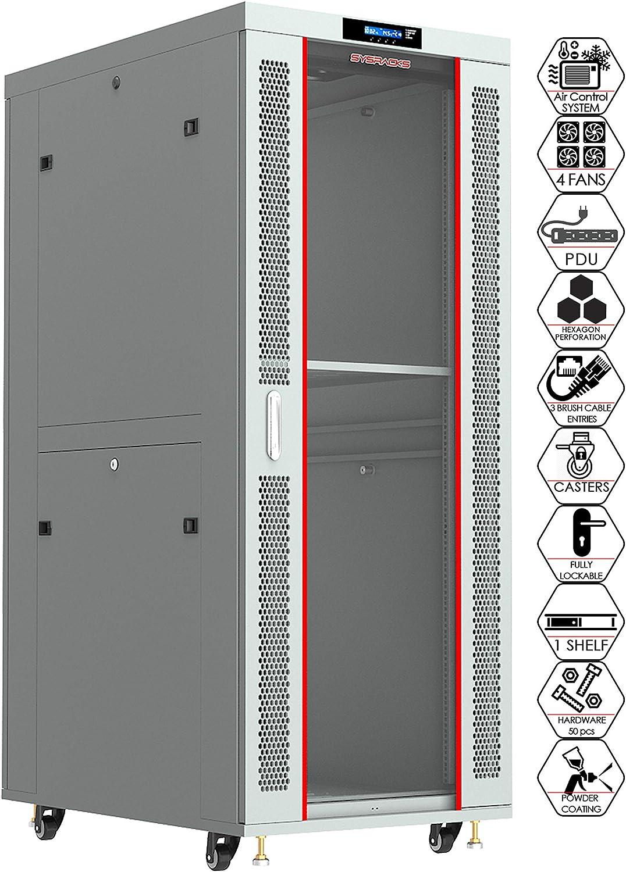 32U Server Rack Cabinet Gray 35