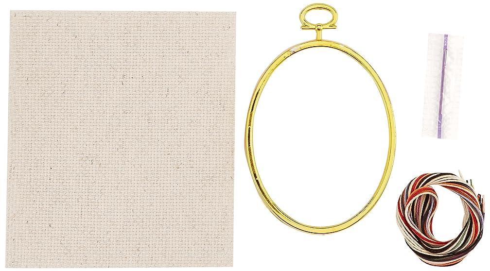 Janlynn 21-1797 14 Count Dapper Snowman Mini Counted Cross Stitch Kit, 3