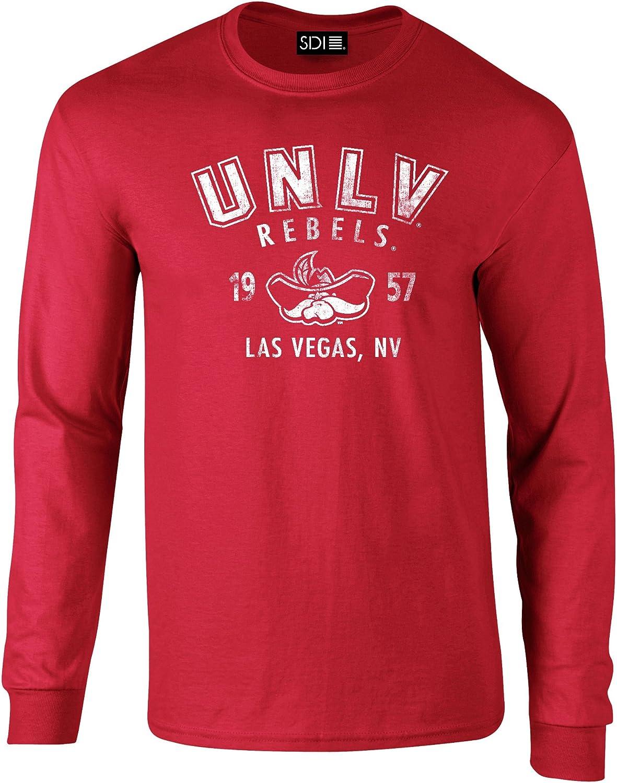 NCAA UNLV Rebels PreShrunk Long Sleeve Tee, 3X, Red