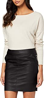 Only Onlbase Faux Leather Skirt Otw Falda para Mujer