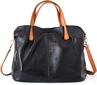 Leather Hobo Handbags for Women Soft Genuine Leather Hobo Bags Top Handle Crossbody Shoulder Bag