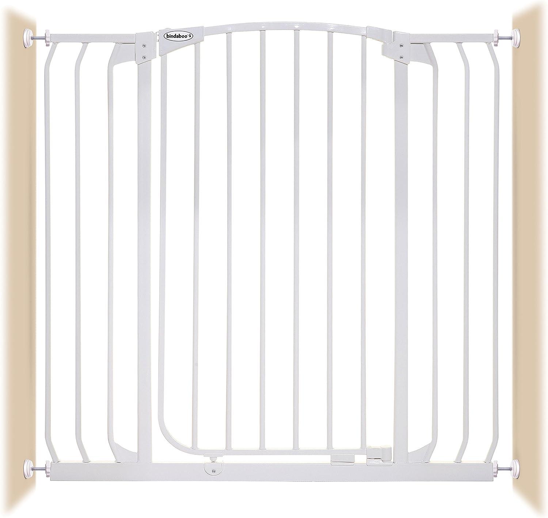 Bindaboo Hallway Pet Gate, Swing Closed, White, ExtraTall