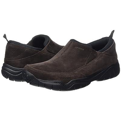 Crocs Swiftwater Leather Moc (Espresso/Black) Men
