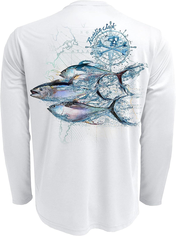 Rattlin Limited time cheap San Jose Mall sale Jack Men's Tuna Sport Fishing 50 Sun UPF Shirt Protectio
