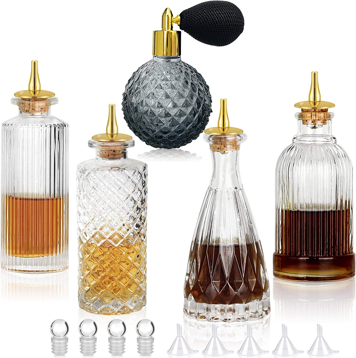 Bitters Bottle 5pcs Glass New sales Dash Sprayer shipfree Vermouth A for Set