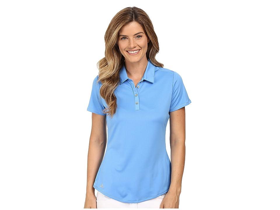 adidas Golf Puremotion Short Sleeve Top (Lucky Blue) Women's Short Sleeve Button Up