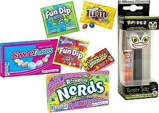 The Pop! Candy Pez Pack Nightmare Vampire Teddy Dispenser fruity Rainbow Nerds + Sweetarts Theater Box/M&M's Fun Size/Fun Dip/Lemonheads Fruit Chews sweet bundle