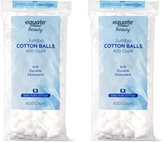 Equate Beauty Cotton Balls, Large Jumbo Size, 400 Count Package, 2 Pack (Includes 800 Big Plus Size Jumbo Cotton Balls Total)