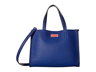 Kate Spade New York Sam Medium Satchel (Mystic Blue) Handbags