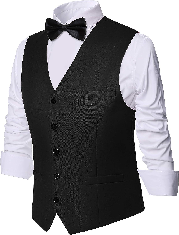 BABEYOND Mens Many popular brands Vintage Suit Vest Business Clas Wholesale Slim Fit
