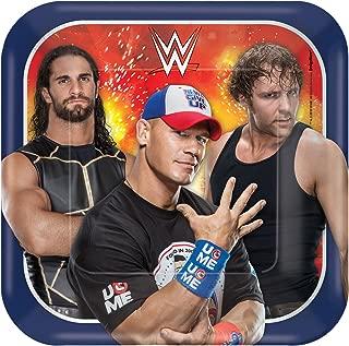 amscan WWE Square Plates, 7