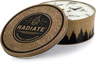 Radiate Portable Campfire: The Original Go-Anywhere Campfire | Lightweight and Portable | 3-5 Hours of Bright and Warm Bur...