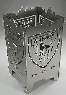 Generisch Teelicht VFL Wolfsburg Wappen aus 1 mm Stahl 9 x 9 x 15 cm