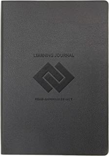 Set and Achieve Learning Journal - Read, Summarize, Act - Black
